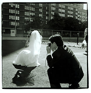 Couple with cameras